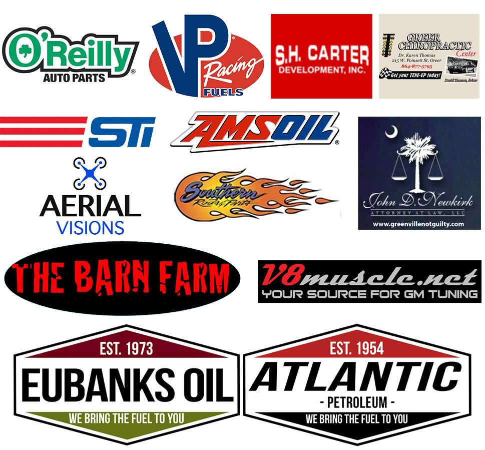 Greer Dragway Sponsors